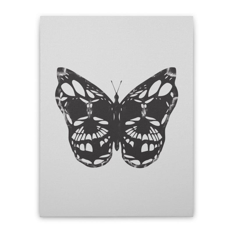 Butterfly of Death Home Stretched Canvas by chevsy's Artist Shop