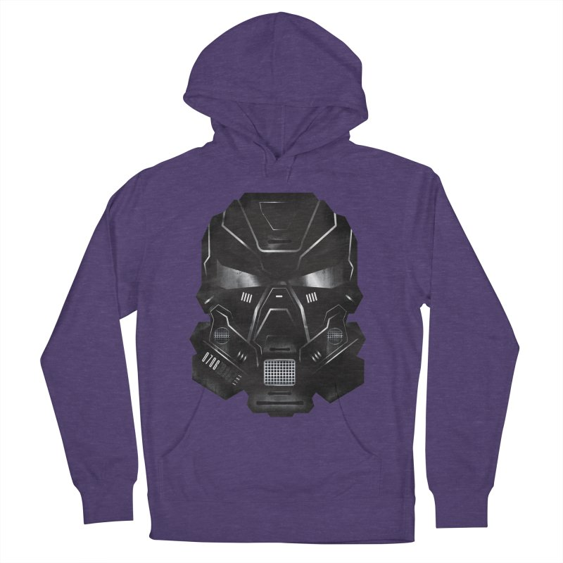 Black Metal Future Fighter Men's French Terry Pullover Hoody by chevsy's Artist Shop