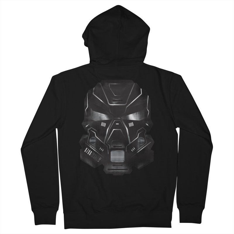 Black Metal Future Fighter Women's French Terry Zip-Up Hoody by chevsy's Artist Shop