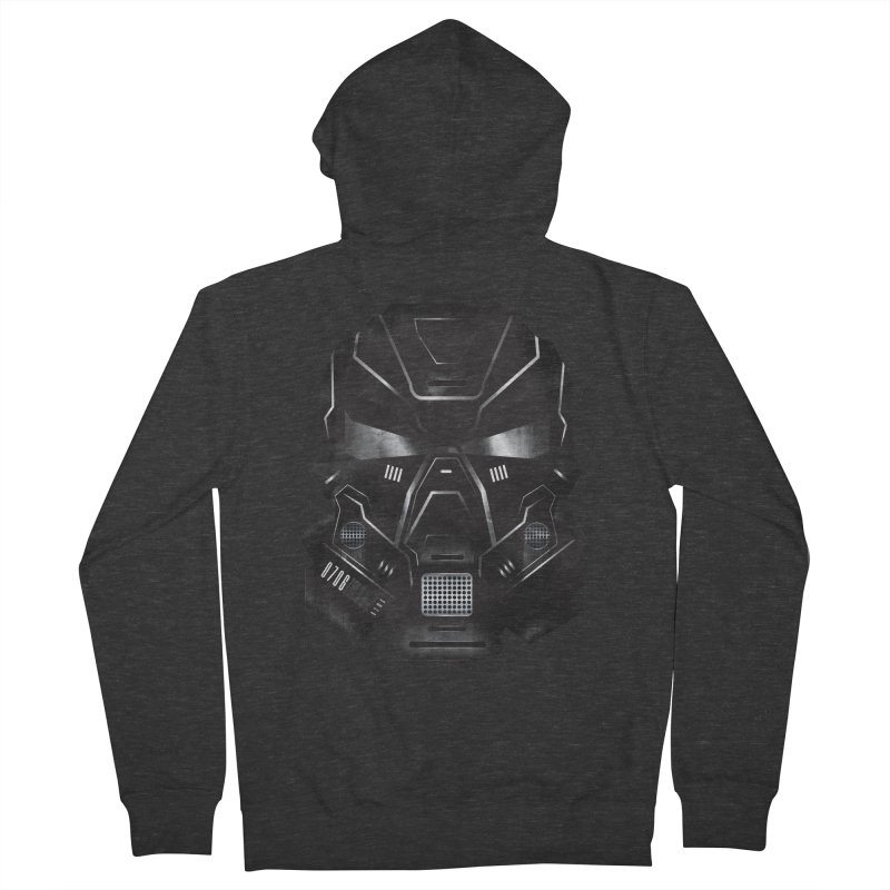 Black Metal Future Fighter Men's French Terry Zip-Up Hoody by chevsy's Artist Shop