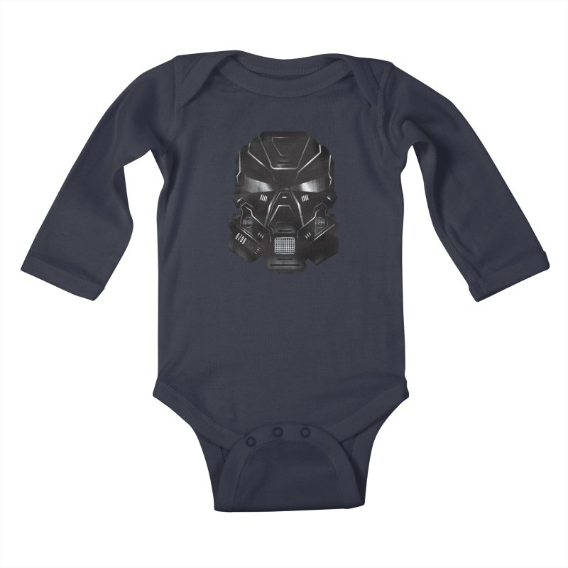 Black Metal Future Fighter Kids Baby Longsleeve Bodysuit by chevsy's Artist Shop