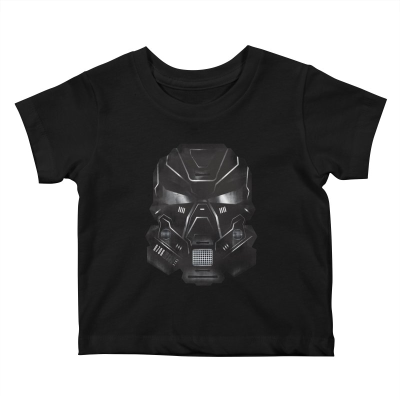 Black Metal Future Fighter Kids Baby T-Shirt by chevsy's Artist Shop