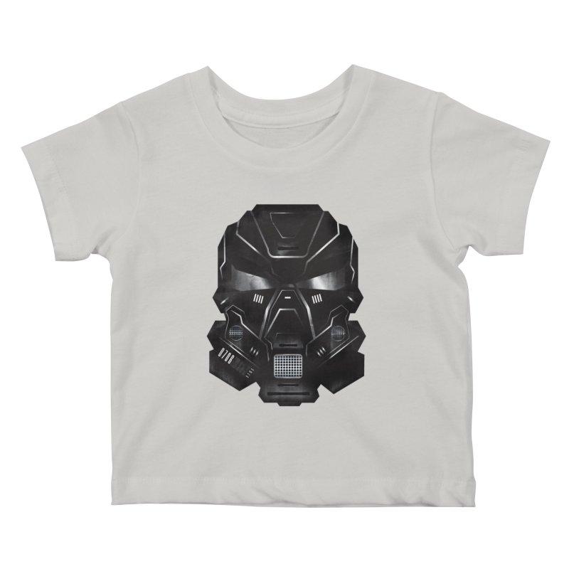 Black Metal Future Fighter Kids Baby T-Shirt by chevsy's Artist Shop