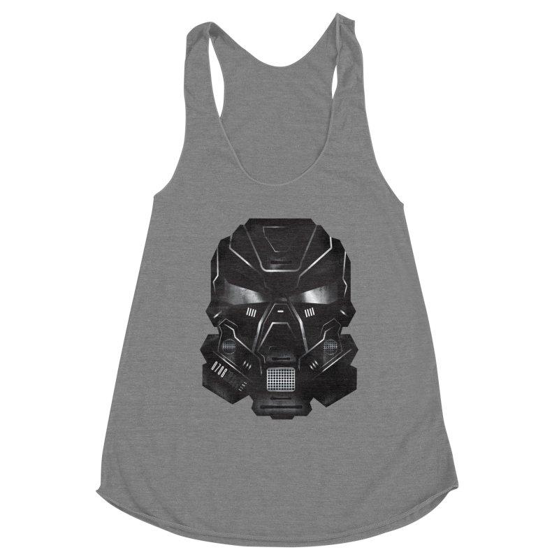 Black Metal Future Fighter Women's Racerback Triblend Tank by chevsy's Artist Shop