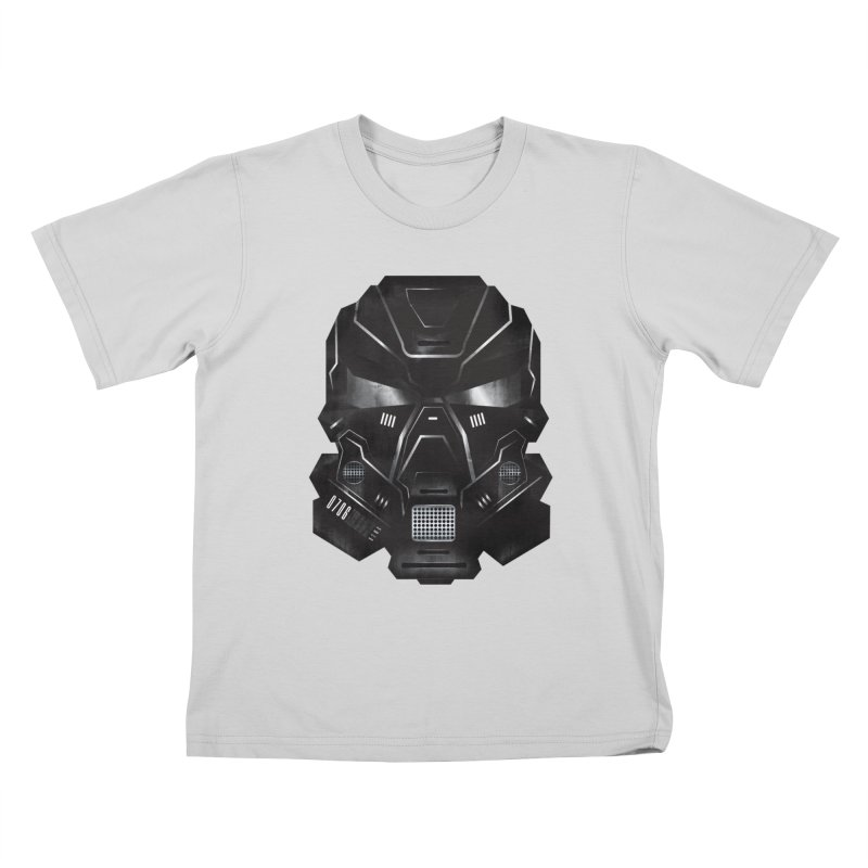 Black Metal Future Fighter Kids T-Shirt by chevsy's Artist Shop