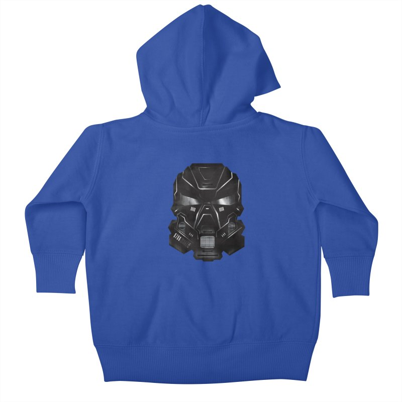 Black Metal Future Fighter Kids Baby Zip-Up Hoody by chevsy's Artist Shop