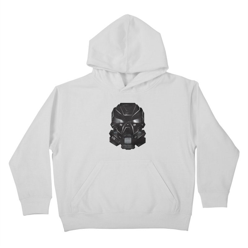 Black Metal Future Fighter Kids Pullover Hoody by chevsy's Artist Shop