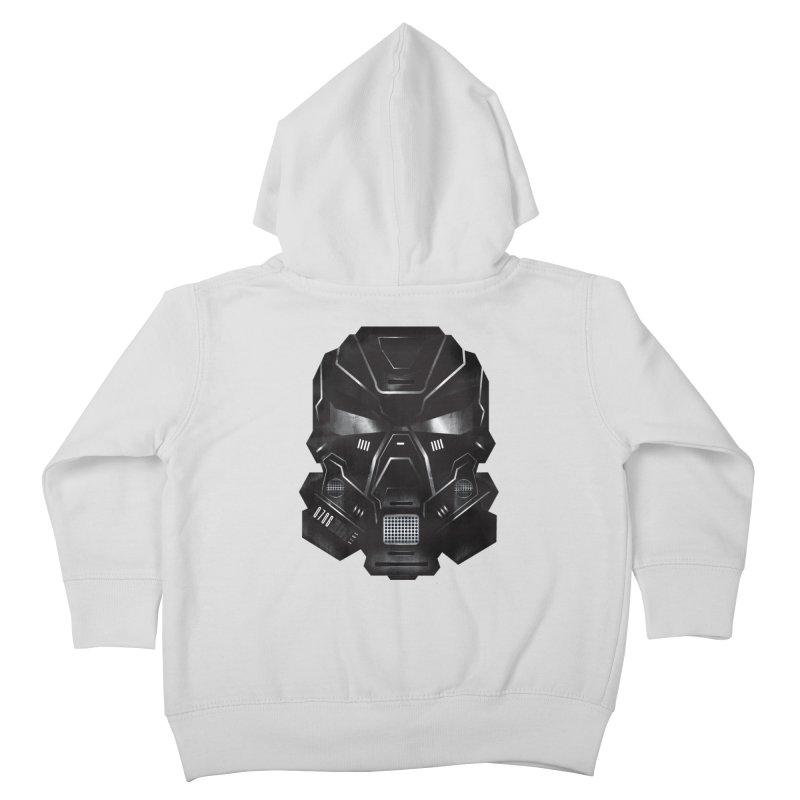 Black Metal Future Fighter Kids Toddler Zip-Up Hoody by chevsy's Artist Shop