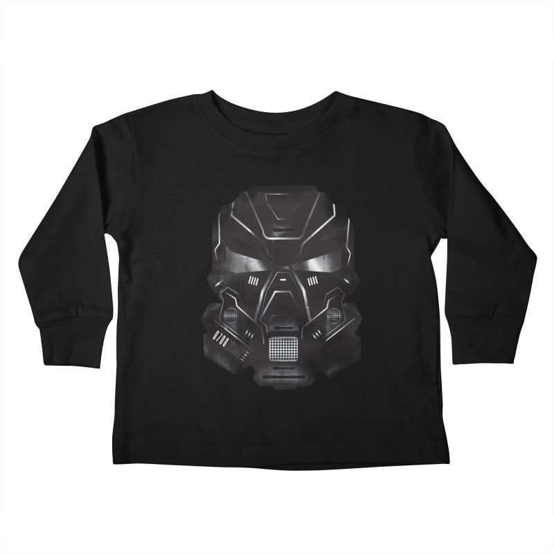 Black Metal Future Fighter Kids Toddler Longsleeve T-Shirt by chevsy's Artist Shop