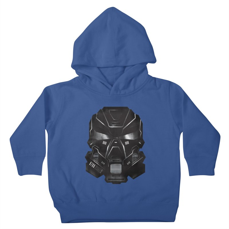Black Metal Future Fighter Kids Toddler Pullover Hoody by chevsy's Artist Shop