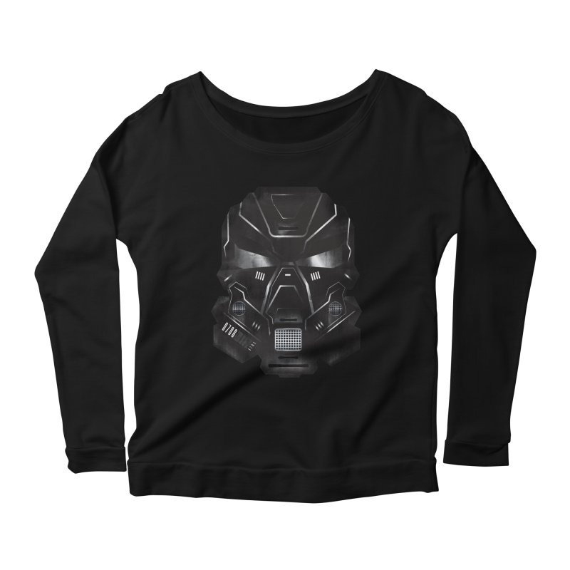 Black Metal Future Fighter Women's Longsleeve Scoopneck  by chevsy's Artist Shop