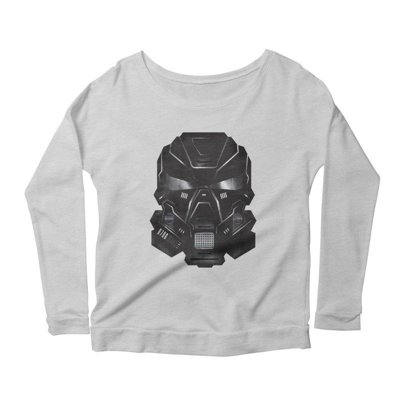 Black Metal Future Fighter Women's Scoop Neck Longsleeve T-Shirt by chevsy's Artist Shop