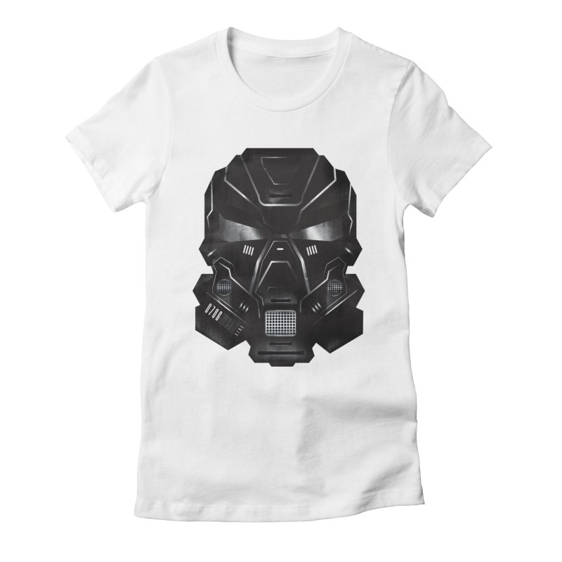 Black Metal Future Fighter Women's Fitted T-Shirt by chevsy's Artist Shop