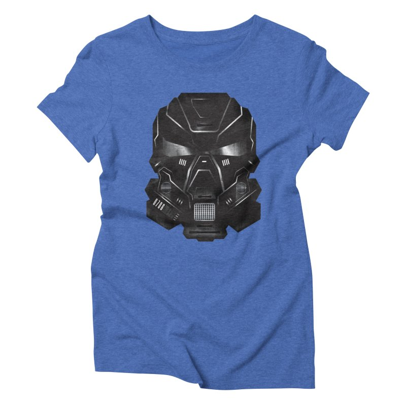 Black Metal Future Fighter Women's Triblend T-Shirt by chevsy's Artist Shop