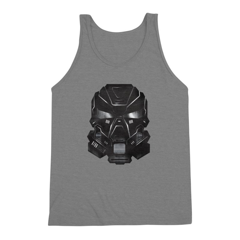 Black Metal Future Fighter Men's Triblend Tank by chevsy's Artist Shop