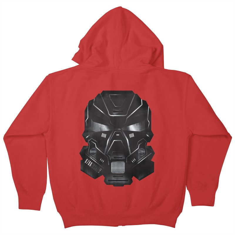 Black Metal Future Fighter Kids Zip-Up Hoody by chevsy's Artist Shop
