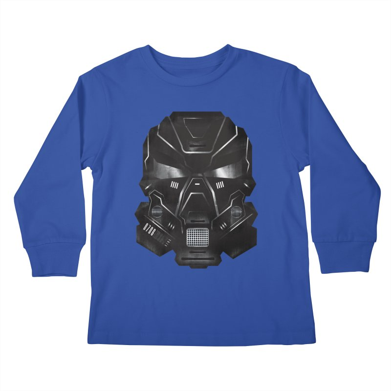Black Metal Future Fighter Kids Longsleeve T-Shirt by chevsy's Artist Shop