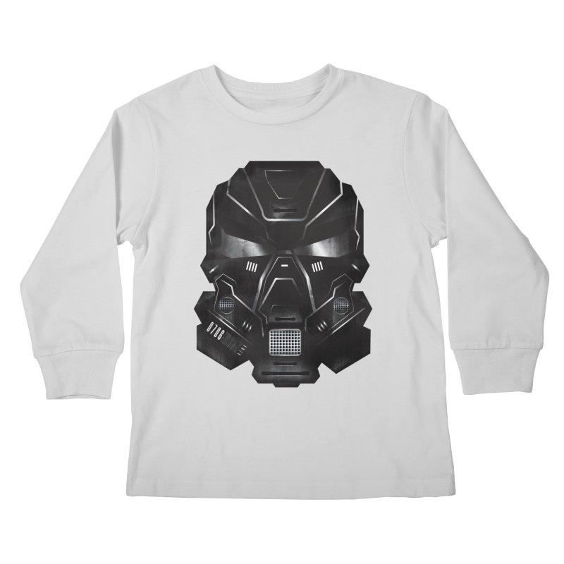 Black Metal Future Fighter Kids Longsleeve T-Shirt by chevsy's Artist Shop