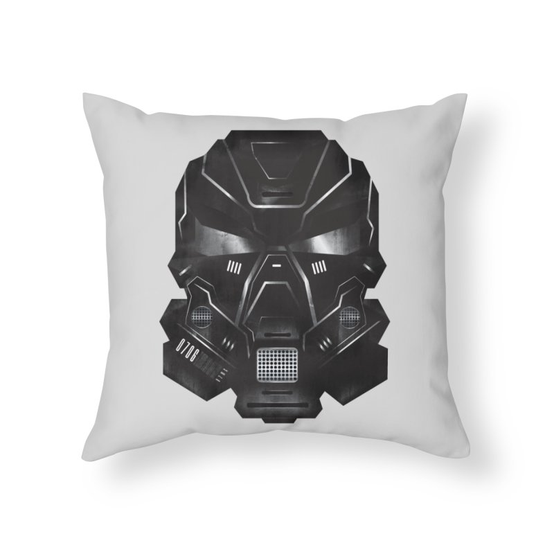 Black Metal Future Fighter Home Throw Pillow by chevsy's Artist Shop
