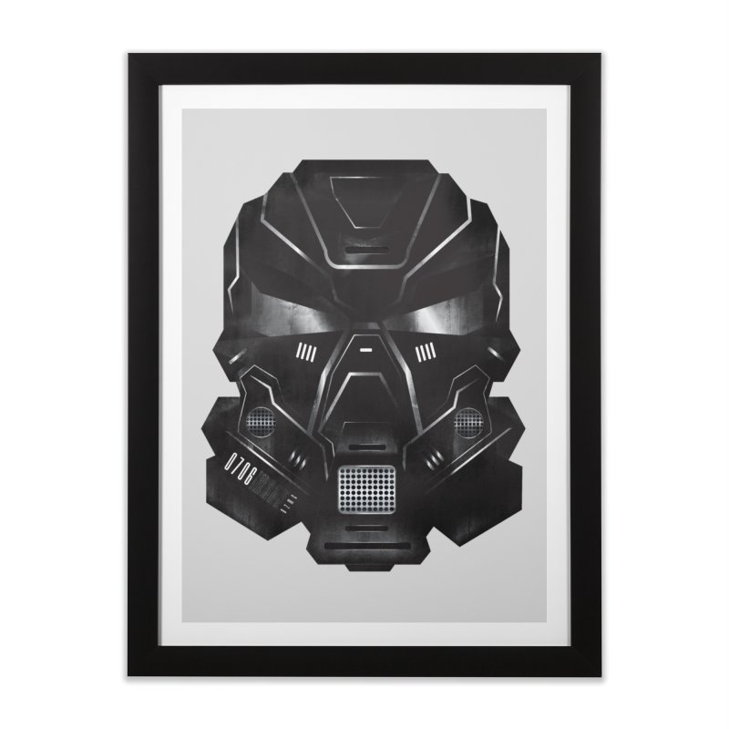 Black Metal Future Fighter Home Framed Fine Art Print by chevsy's Artist Shop
