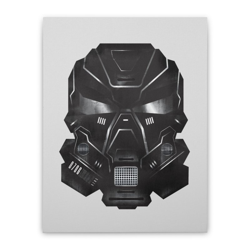 Black Metal Future Fighter Home Stretched Canvas by chevsy's Artist Shop