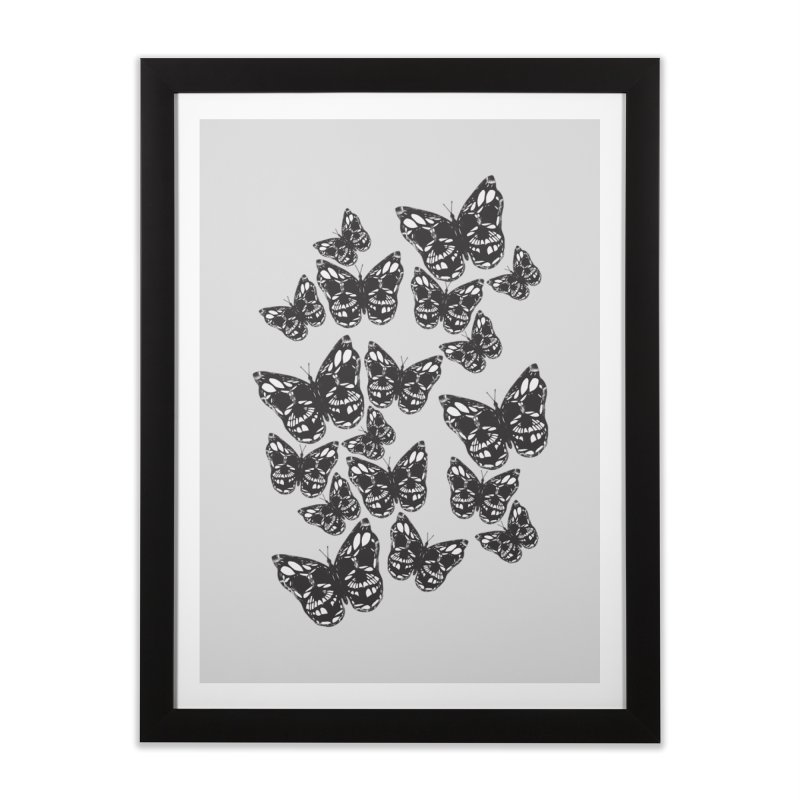 Butterflies of Death Home Framed Fine Art Print by chevsy's Artist Shop