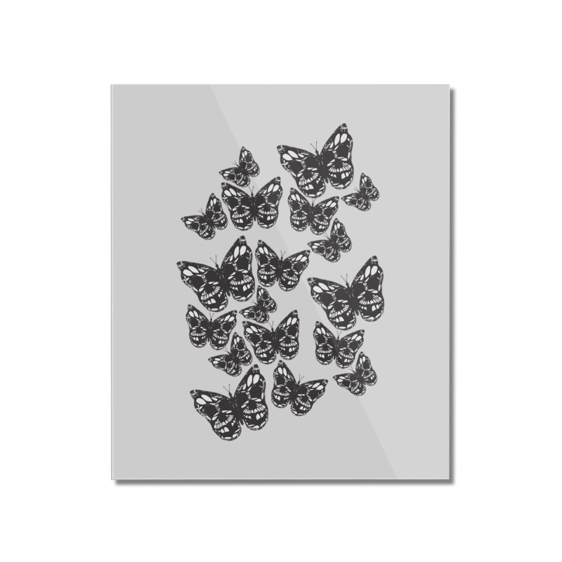 Butterflies of Death Home Mounted Acrylic Print by chevsy's Artist Shop
