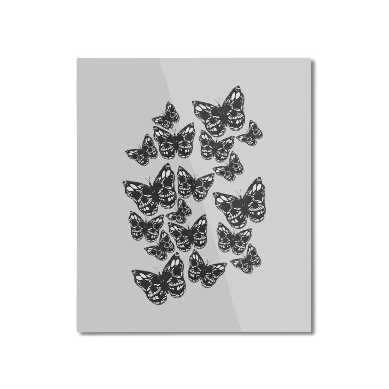 Butterflies of Death Home Mounted Aluminum Print by chevsy's Artist Shop