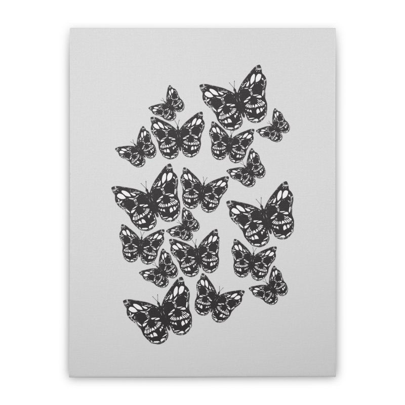 Butterflies of Death Home Stretched Canvas by chevsy's Artist Shop