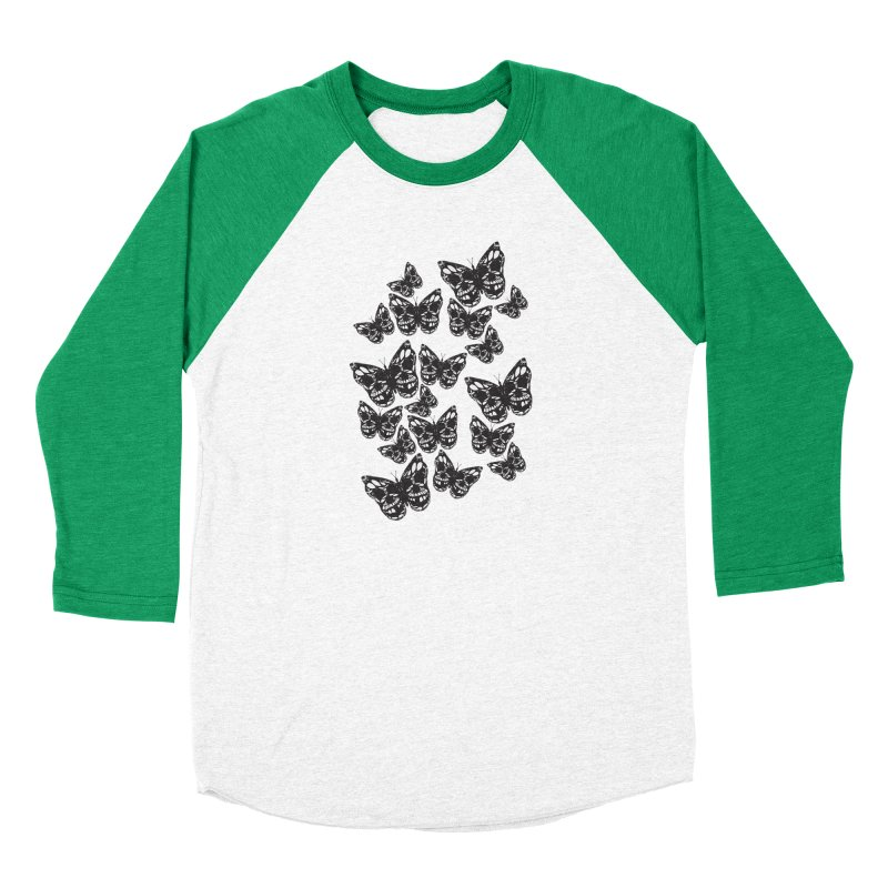 Butterflies of Death Men's Baseball Triblend Longsleeve T-Shirt by chevsy's Artist Shop