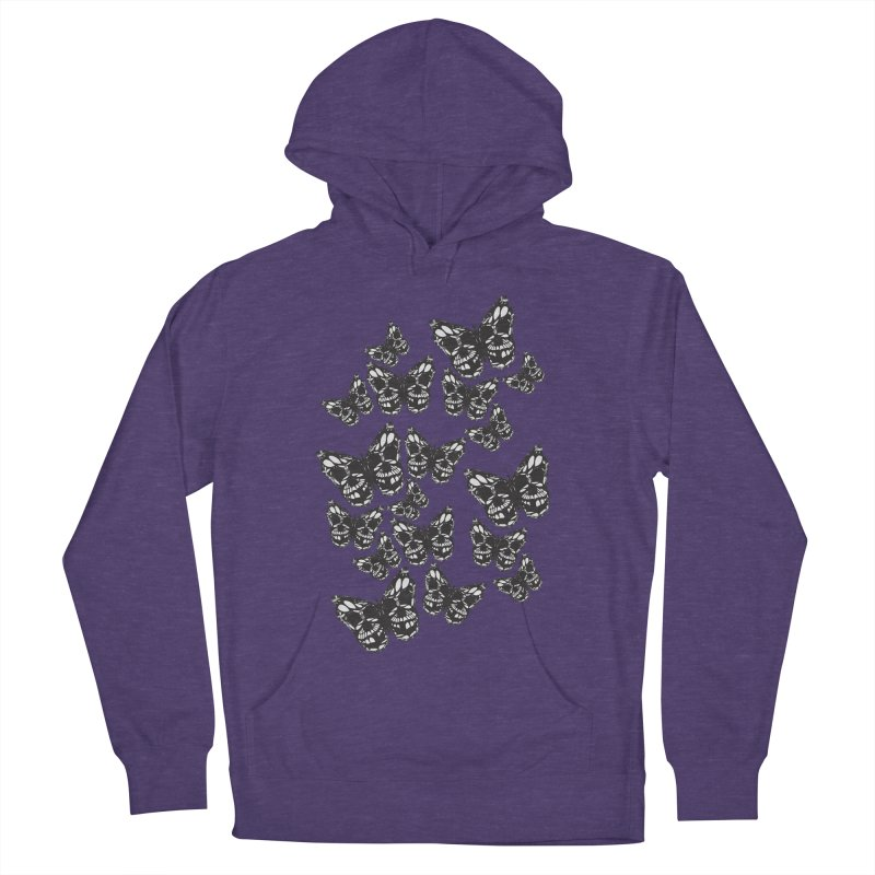Butterflies of Death Women's French Terry Pullover Hoody by chevsy's Artist Shop