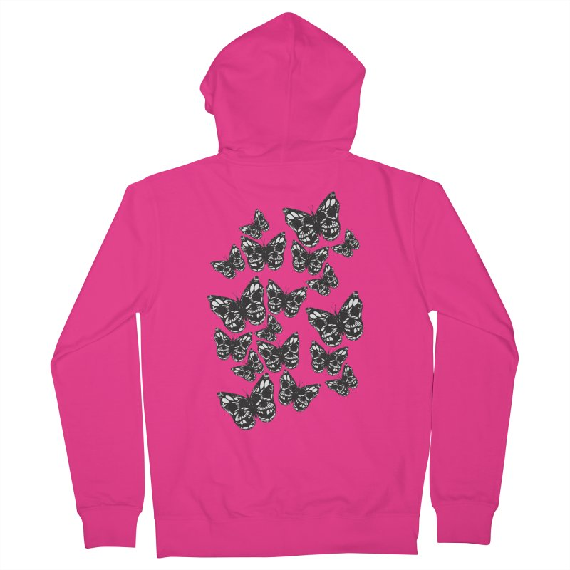Butterflies of Death Men's French Terry Zip-Up Hoody by chevsy's Artist Shop