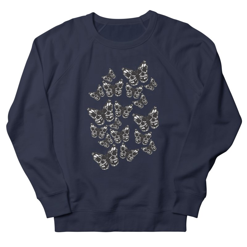 Butterflies of Death Men's French Terry Sweatshirt by chevsy's Artist Shop