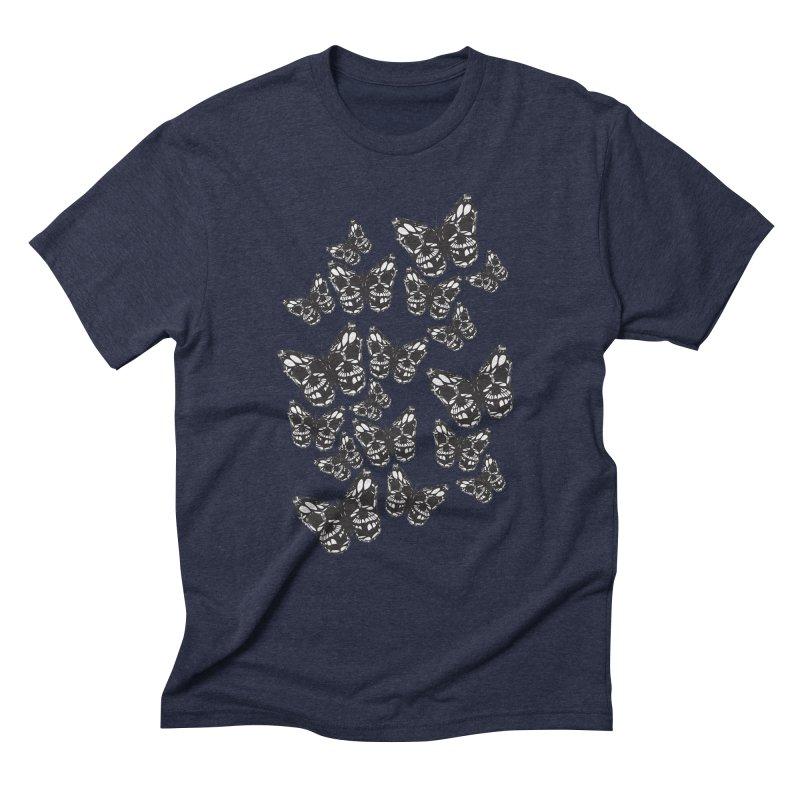 Butterflies of Death Men's Triblend T-Shirt by chevsy's Artist Shop