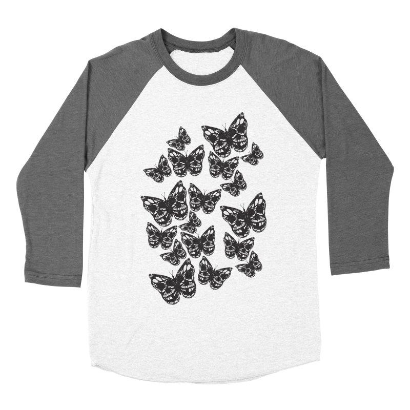 Butterflies of Death Women's Baseball Triblend T-Shirt by chevsy's Artist Shop