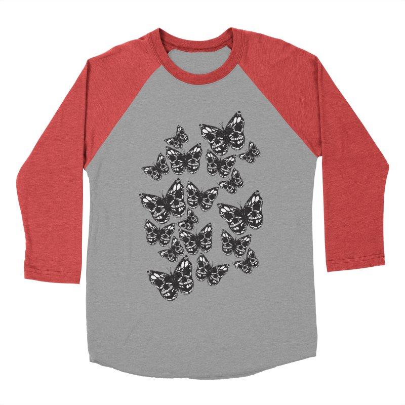 Butterflies of Death Men's Baseball Triblend T-Shirt by chevsy's Artist Shop