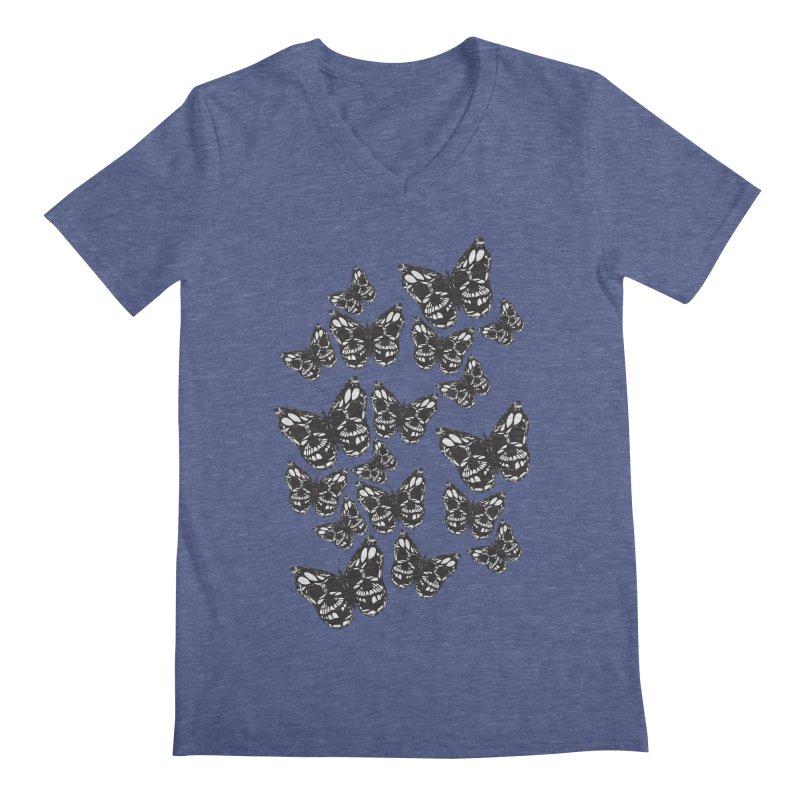 Butterflies of Death Men's V-Neck by chevsy's Artist Shop