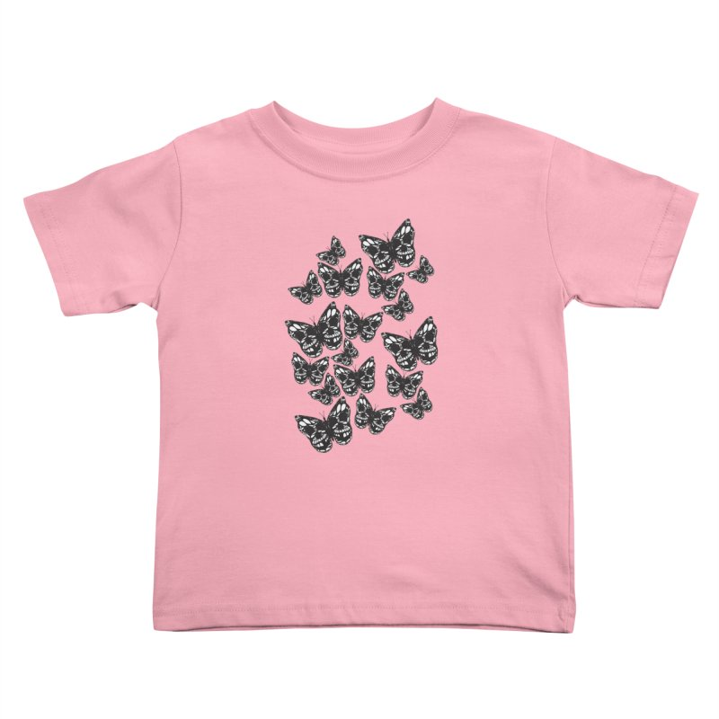 Butterflies of Death Kids Toddler T-Shirt by chevsy's Artist Shop