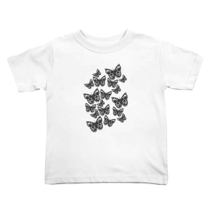 Butterflies of Death Kids Toddler T-Shirt by chevsy's Artist Shop