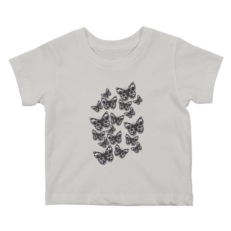 Butterflies of Death Kids Baby T-Shirt by chevsy's Artist Shop