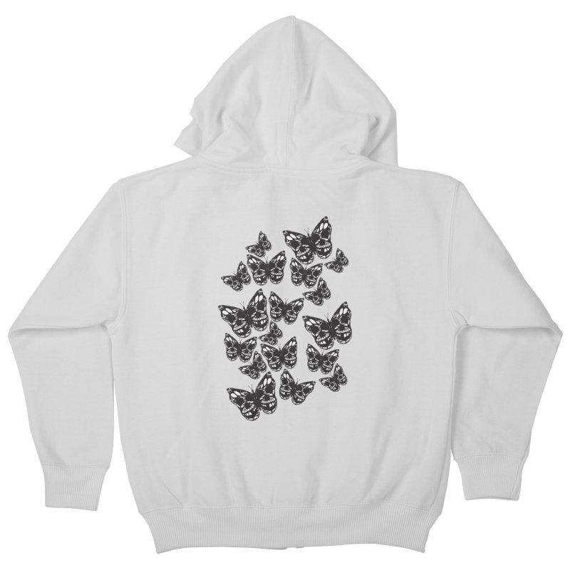Butterflies of Death Kids Zip-Up Hoody by chevsy's Artist Shop