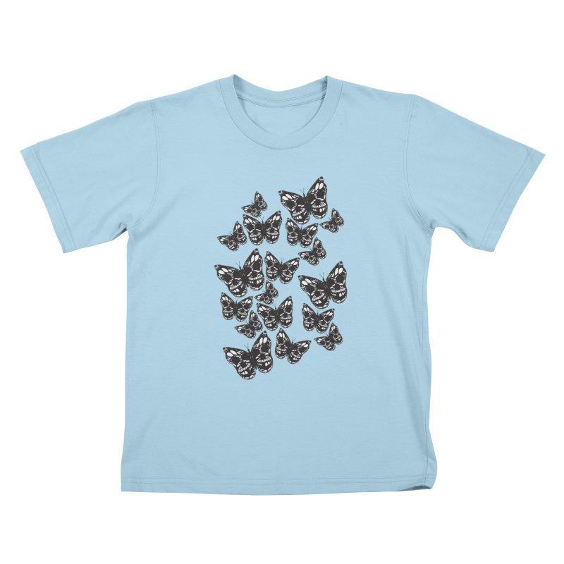 Butterflies of Death Kids T-Shirt by chevsy's Artist Shop