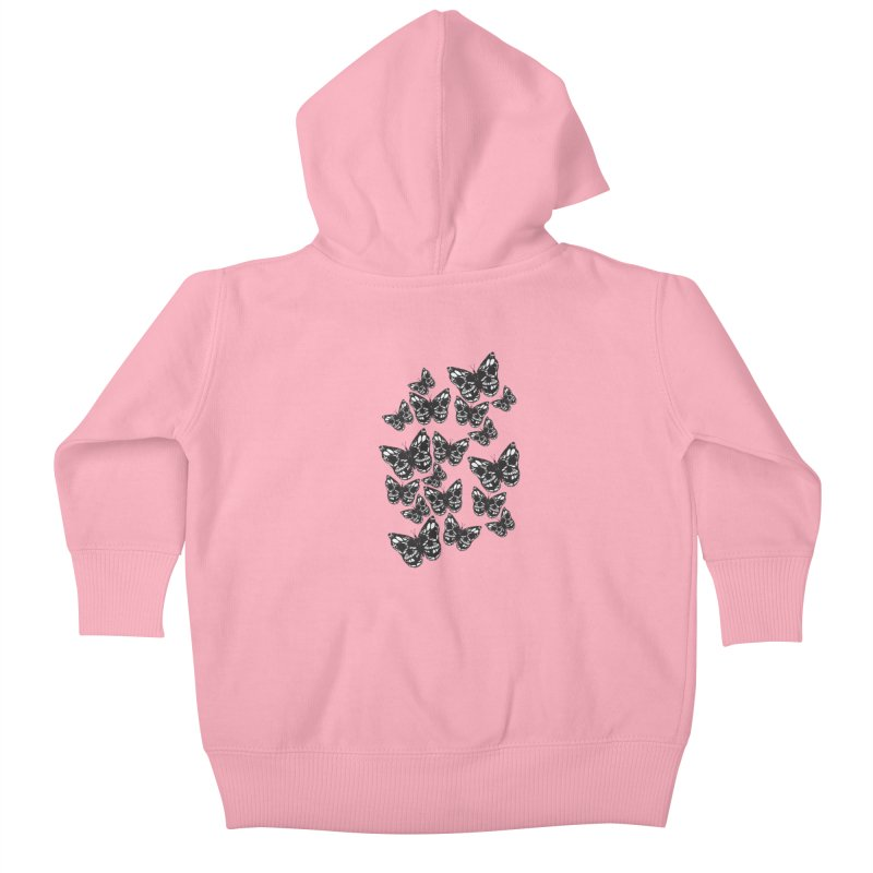 Butterflies of Death Kids Baby Zip-Up Hoody by chevsy's Artist Shop