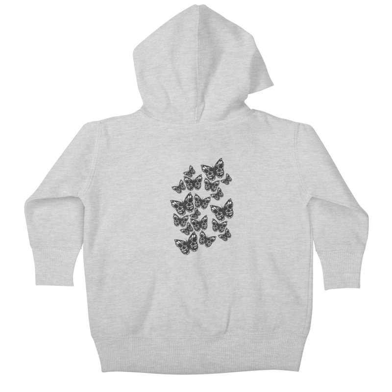 Butterflies of Death Kids Baby Zip-Up Hoody by chevsy's Artist Shop