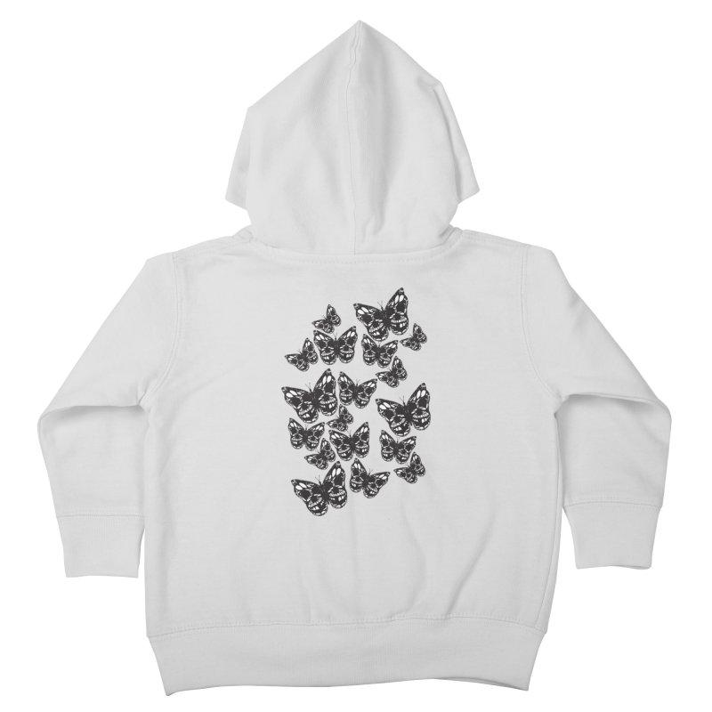 Butterflies of Death Kids Toddler Zip-Up Hoody by chevsy's Artist Shop