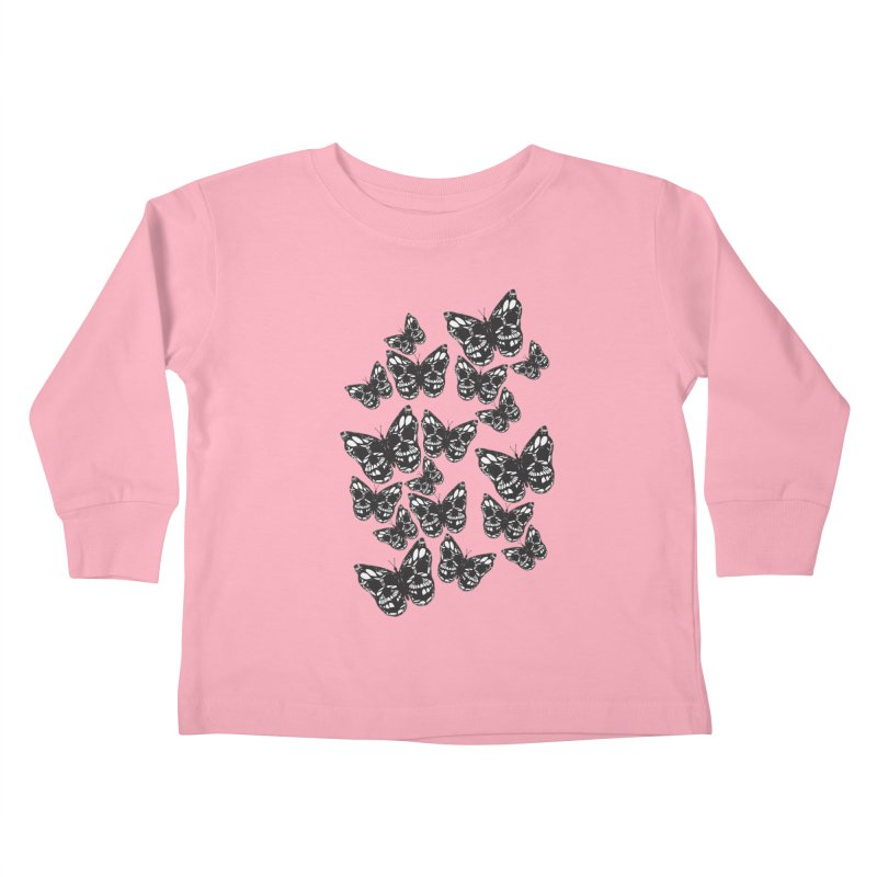 Butterflies of Death Kids Toddler Longsleeve T-Shirt by chevsy's Artist Shop