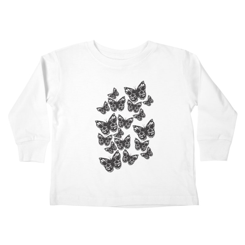 Butterflies of Death Kids Toddler Longsleeve T-Shirt by chevsy's Artist Shop