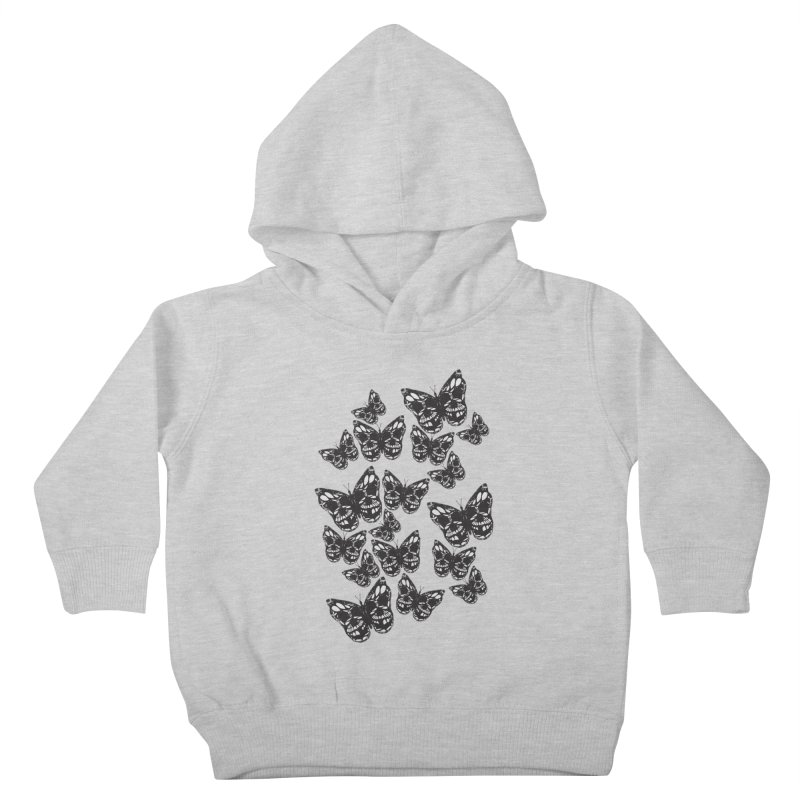 Butterflies of Death Kids Toddler Pullover Hoody by chevsy's Artist Shop