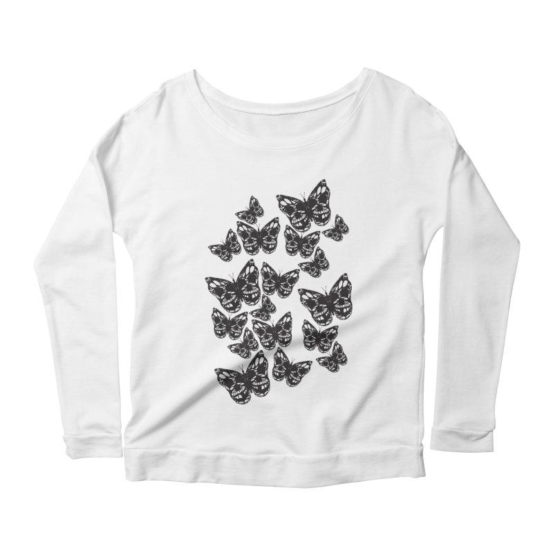 Butterflies of Death Women's Longsleeve Scoopneck  by chevsy's Artist Shop