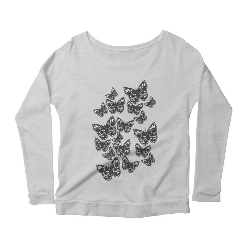 Butterflies of Death Women's Scoop Neck Longsleeve T-Shirt by chevsy's Artist Shop